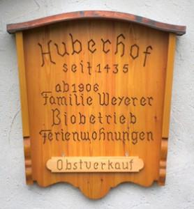 huberhof-schild